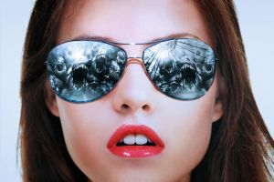women face movies women with shades closeup