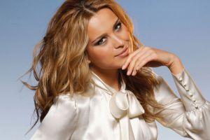 women face petra nemcova model blonde blouses hazel eyes