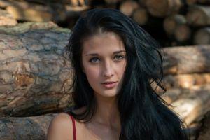 women face wood dark hair