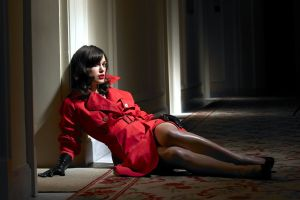 women gloves celebrity legs model coats keira knightley trench coat actress on the floor red coat