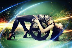 women high heels model lights