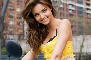 women long hair model smiling victoria's secret miranda kerr