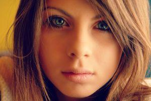 women model blonde eyes face portrait green eyes blue eyes