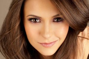 women model smiling brown eyes face closeup brunette nina dobrev