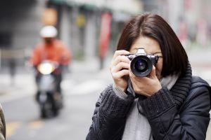 women outdoors camera women