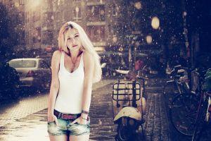 women outdoors model blonde women