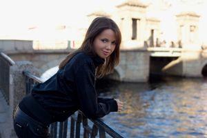 women outdoors outdoors model urban women bridge