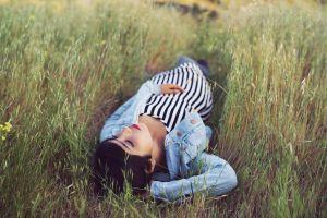 women outdoors outdoors women grass field