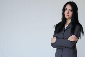 women simple background dark hair