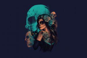 women skull artwork sugar skull fantasy art