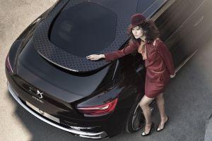 women with cars citroën hat car citroen numero 9 women asian vehicle black cars concept cars