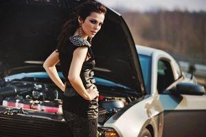 women with cars looking back brunette model car women sati kazanova