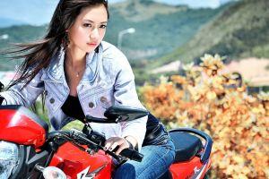 women with motorcycles asian model women