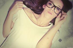 women women with glasses brunette model glasses