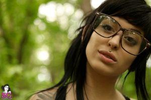 women women with glasses pornstar model piercing suicide girls