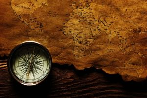 world map compass vintage old map