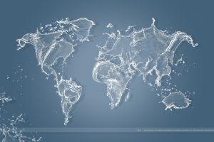 world map globes digital art map artwork water