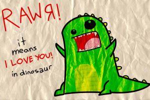 wrinkled paper drawing dinosaurs humor