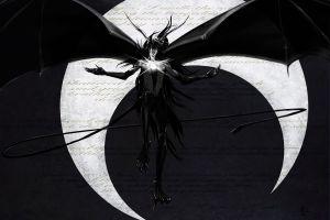 writing crescent moon espada hollow bleach monochrome wings ulquiorra cifer