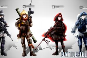yang xiao long rwby battlefield 4 battlefield ruby rose (character) anime girls blake belladonna weiss schnee
