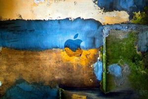 yellow apple inc. blue cyan grunge texture colorful ukraine