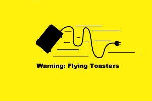 yellow background toaster quote humor minimalism