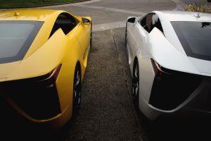 yellow cars car vehicle white cars lexus
