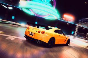 yellow cars nissan car nissan gtr