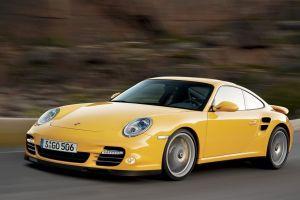 yellow cars porsche 911 car
