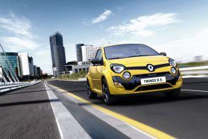 yellow cars renault twingo car