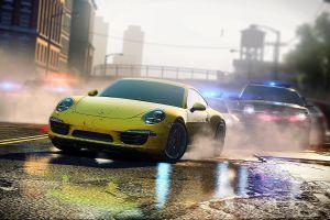 yellow cars video games porsche 911 carrera s porsche 911 porsche need for speed: most wanted (2012 video game)