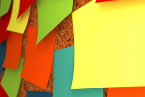 yellow colorful minimalism red green post-it notes