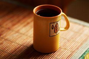 yellow cup tea coffee morning