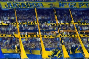 yellow people crowds blue