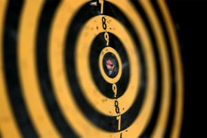 yellow targets numbers black