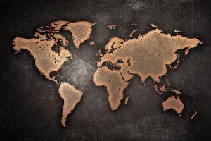 yellow world world map web design map artwork