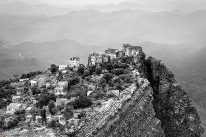 yemen landscape monochrome