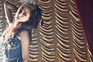 yoon bora women makeup model k-pop arms up starship entertainment korean asian