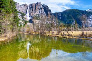 yosemite national park nature mountains yosemite falls usa