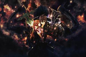 yuuki asuna sword art online kirigaya kazuto anime boys anime girls