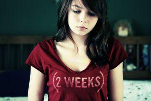 zara jay brunette sad women eyes t-shirt