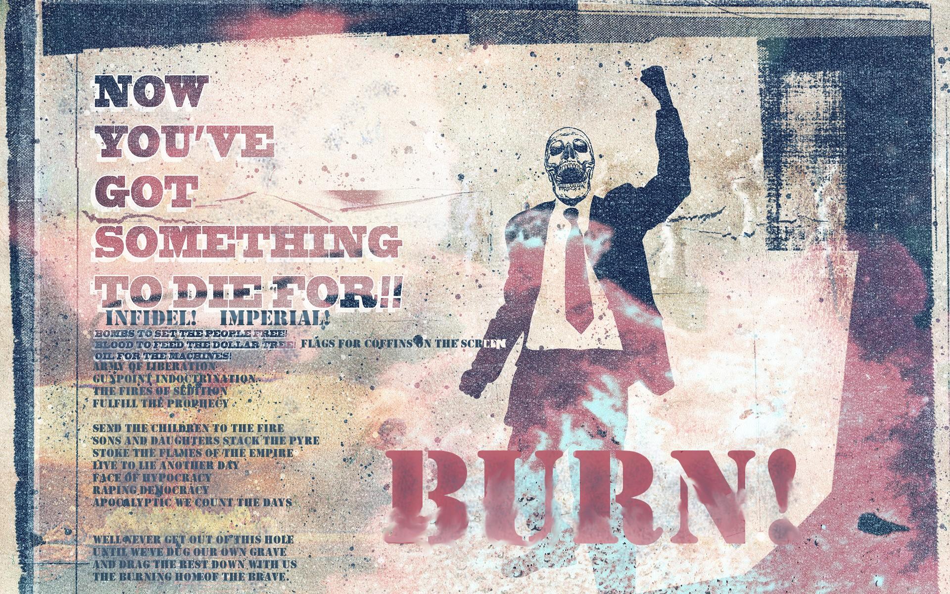 tie digital art graffiti text wall burn war skull burning