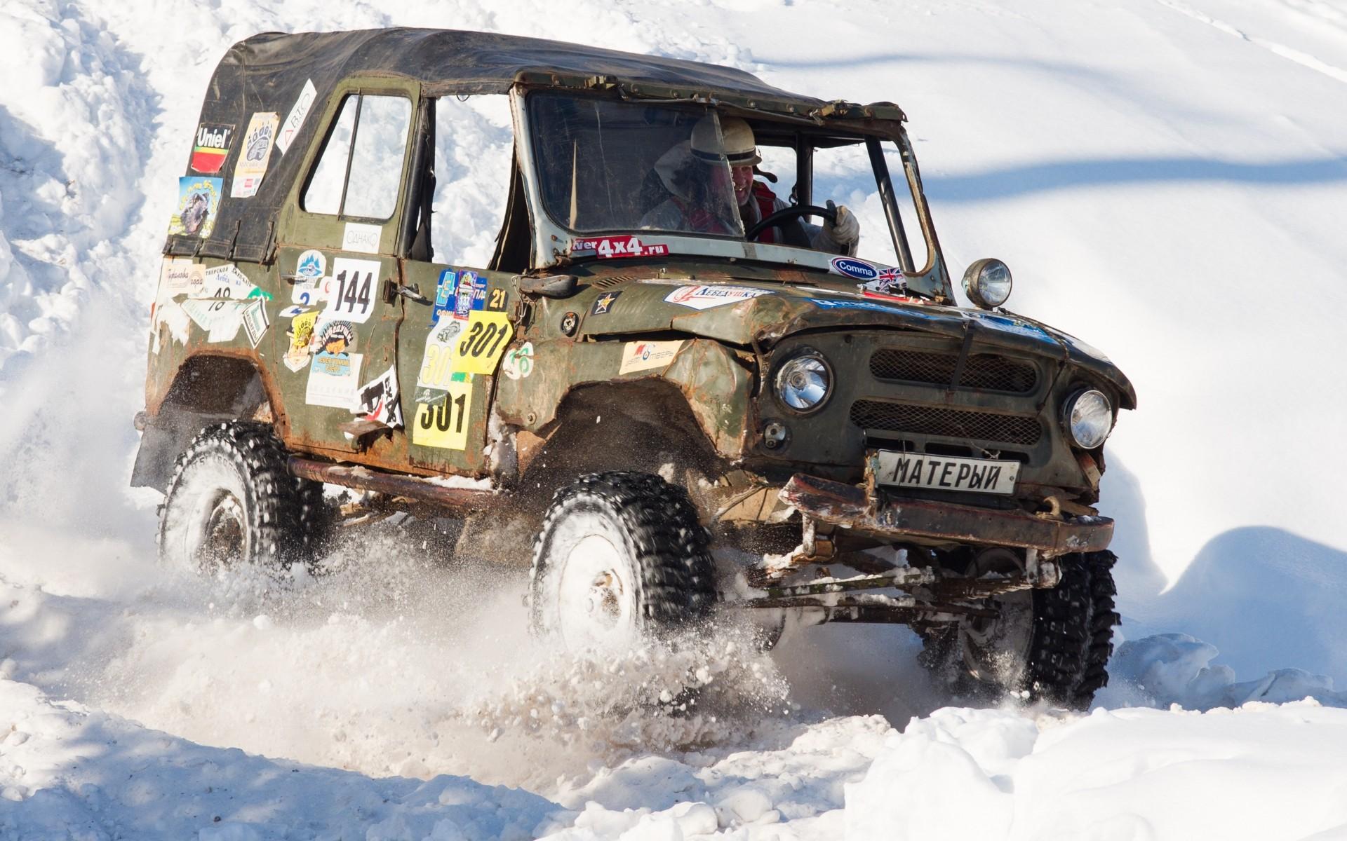uaz snow car russia