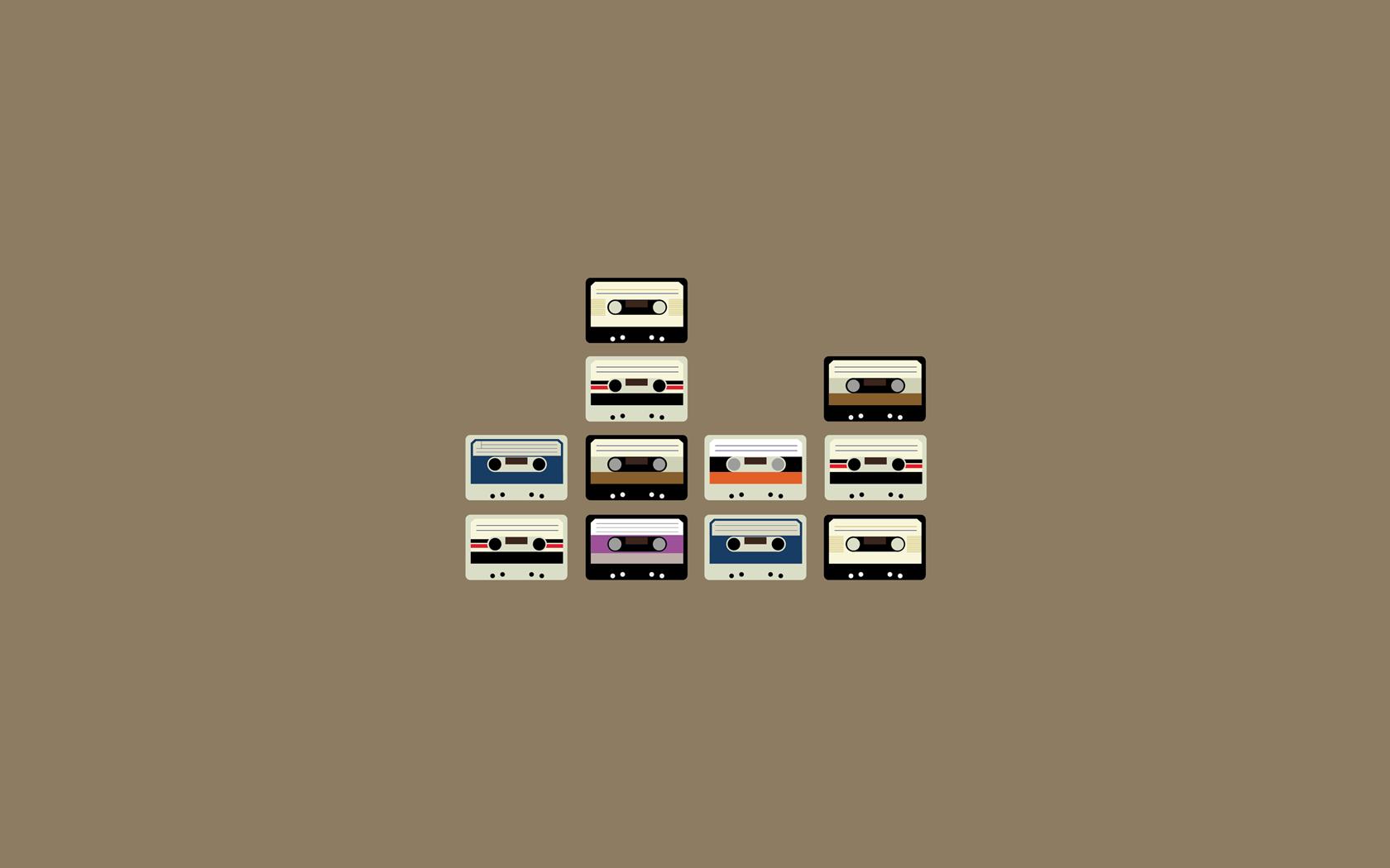 vintage minimalism cassette tape
