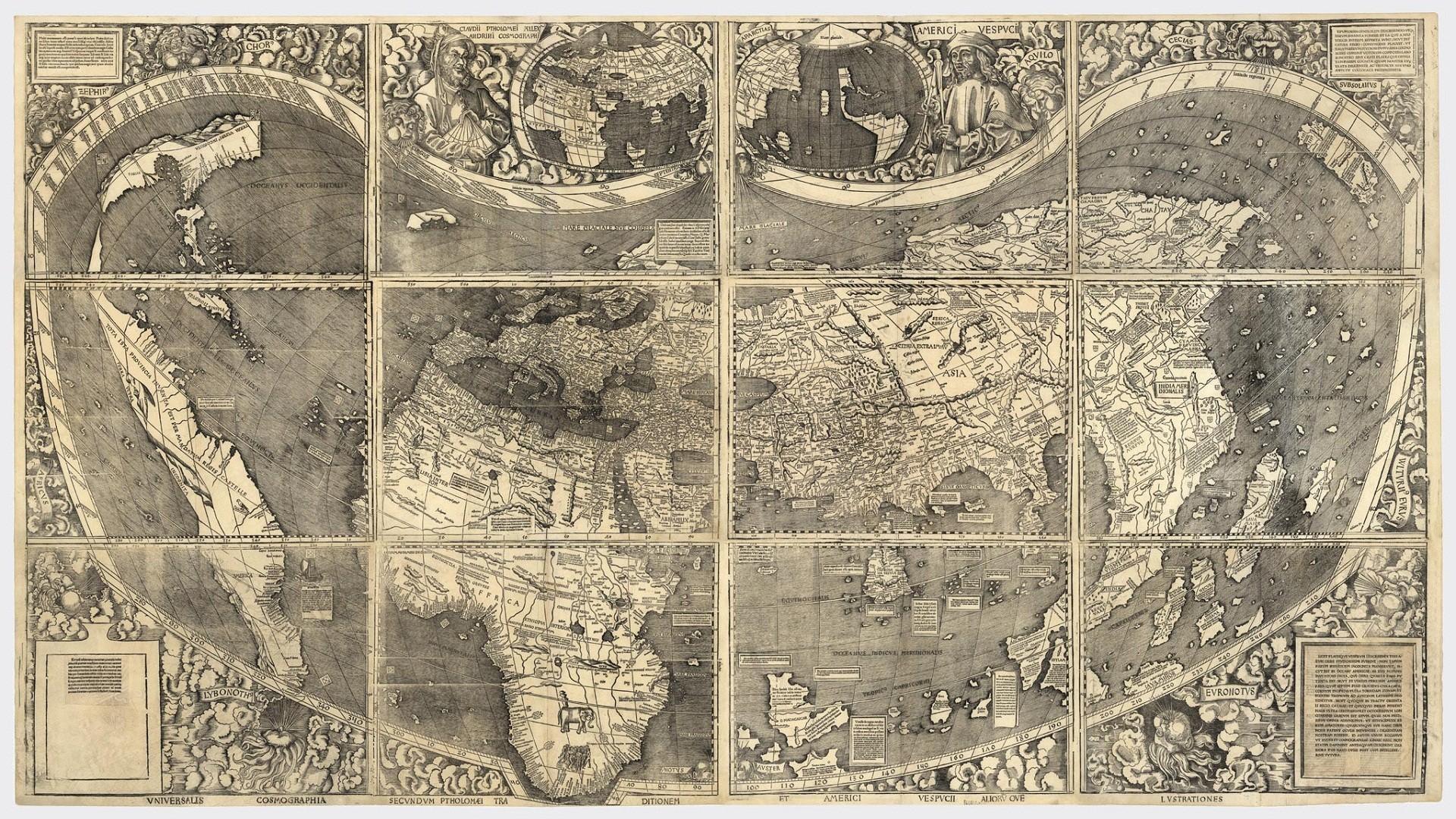 vintage world map world