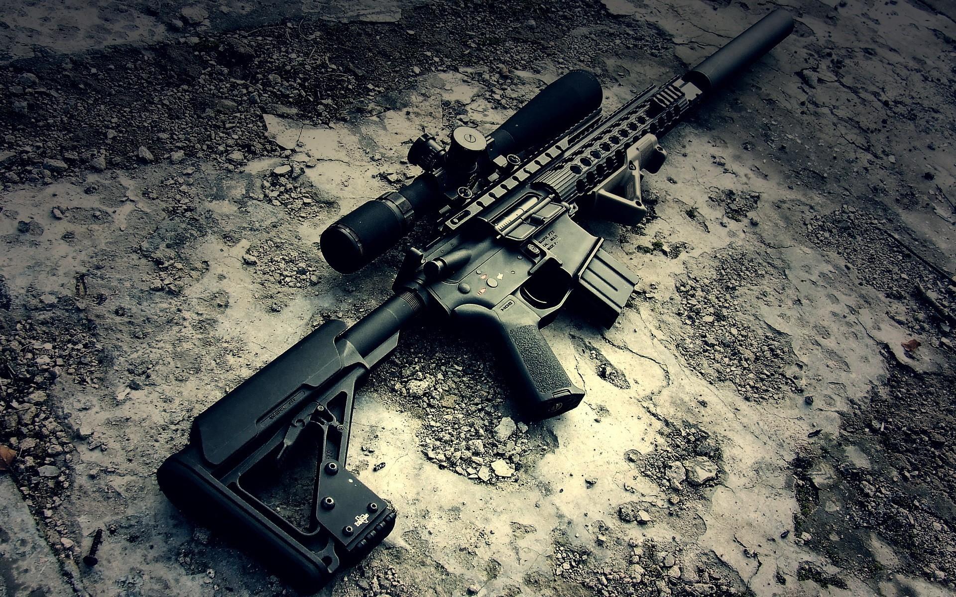 weapon military rifles ar-15 gun