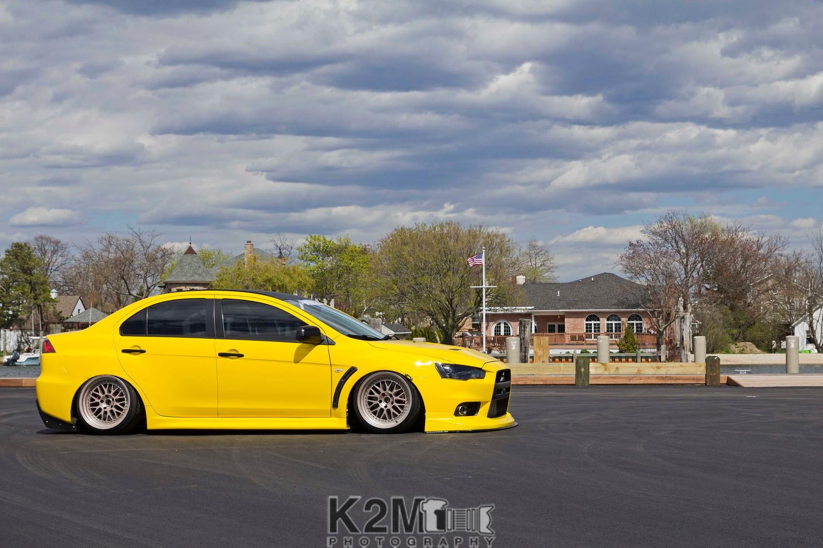 yellow cars mitsubishi mitsubishi lancer evo x vehicle car