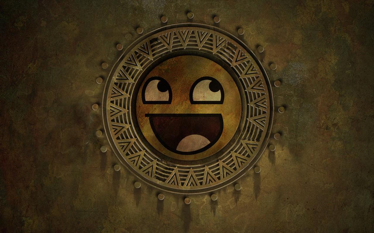 yellow happy face circle
