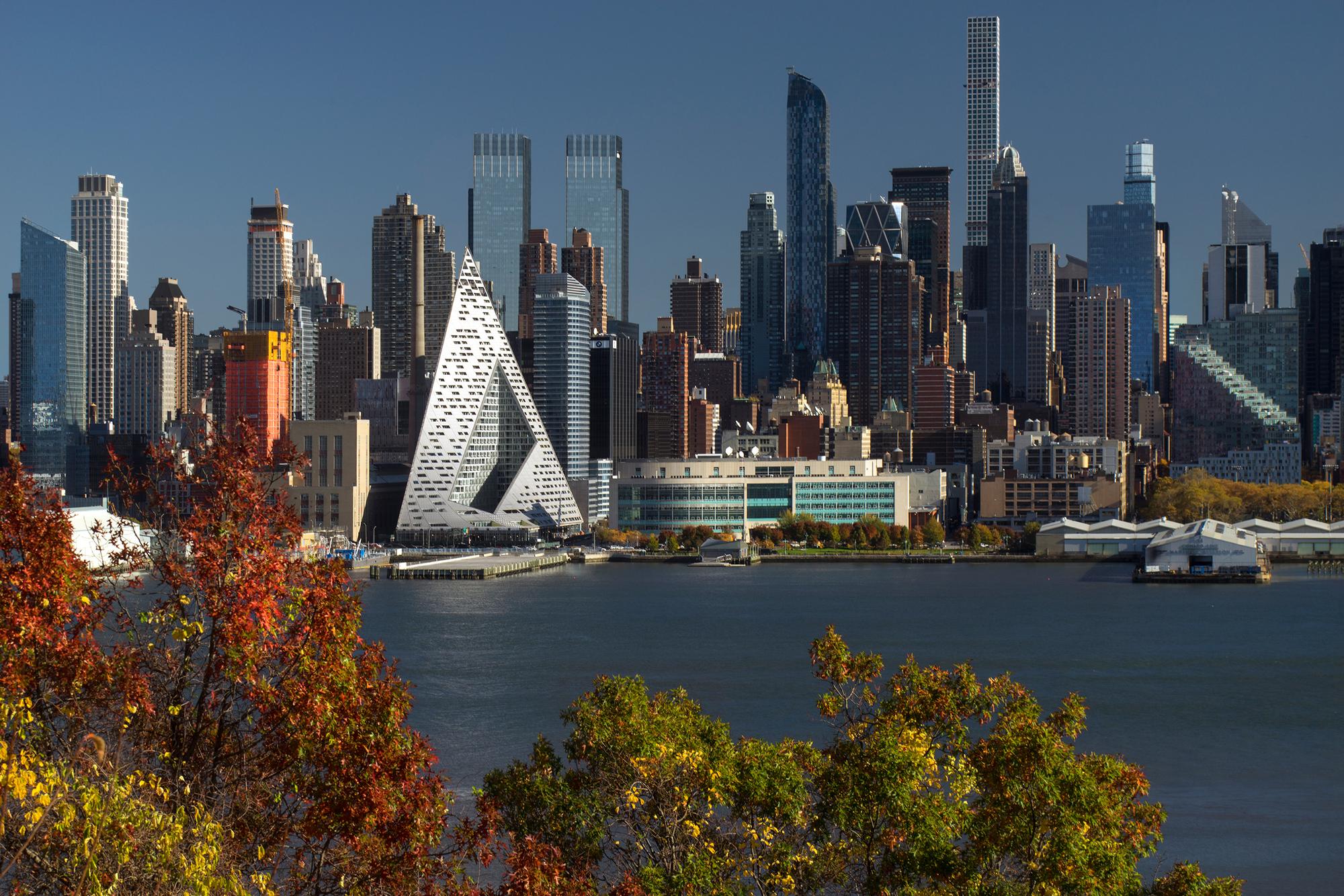 architecture cityscape new york city trees building water render skyscraper usa