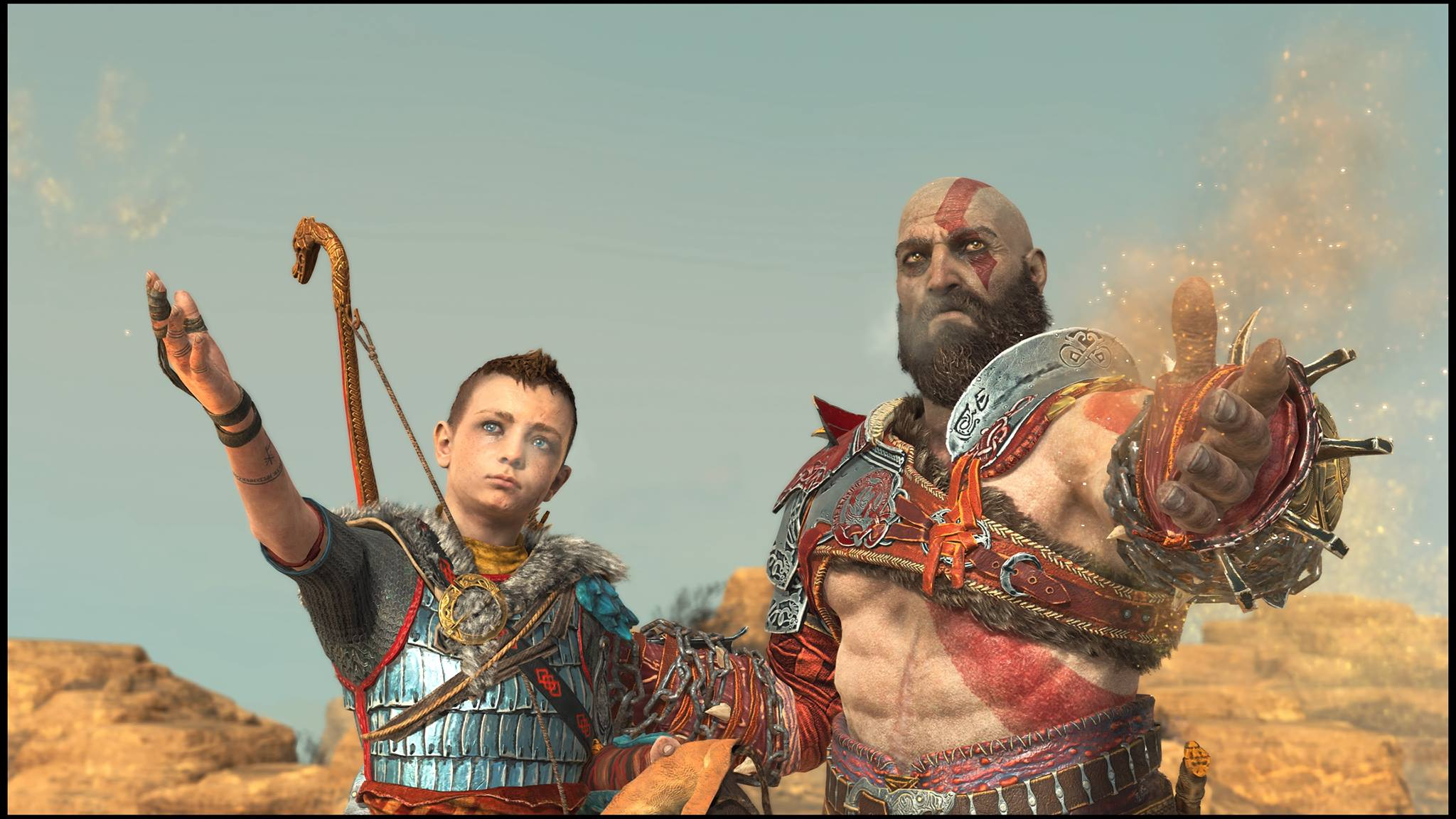 atreus god of war (2018) kratos video games god of war screen shot santa monica studio